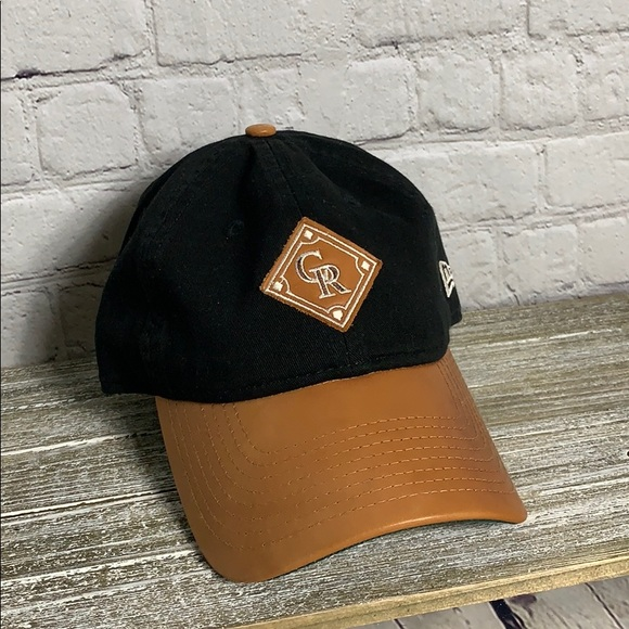 cheap for discount new specials uk store New Era Accessories   With Wilson Leather Colorado Rockies Hat ...